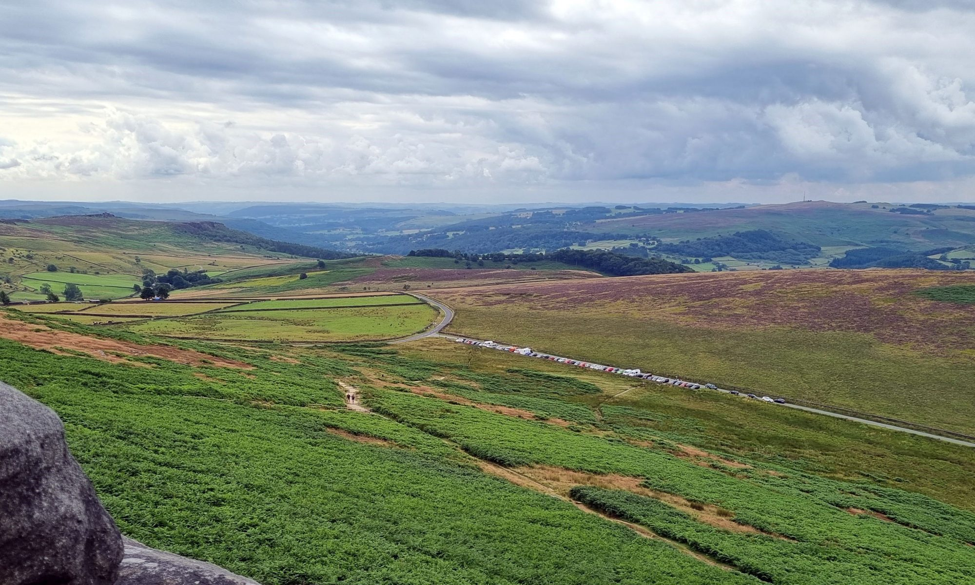 The majestic view from Stanage Edgee